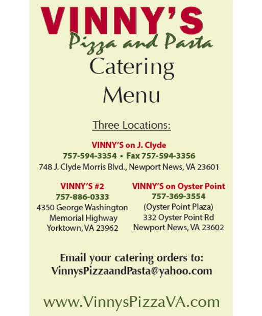 Free Spirit Dining Vinnys Pizza And Pasta On J Clyde Reviews Hours Menu Map Newport News Virginia 23601